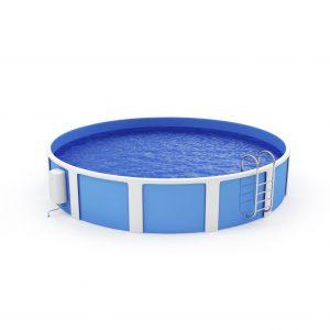 Freistehender Swimmingpool