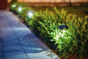Gartenbeleuchtung von Wegen