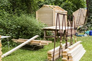 Bau eines Gartenschuppen